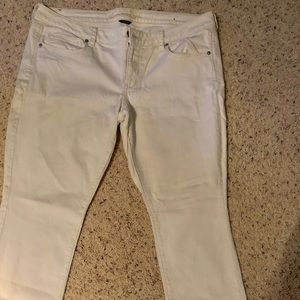 White bootcut jeans from AE